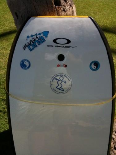 Friend Leland's bodyboard w/ MDNA sticker - cool!