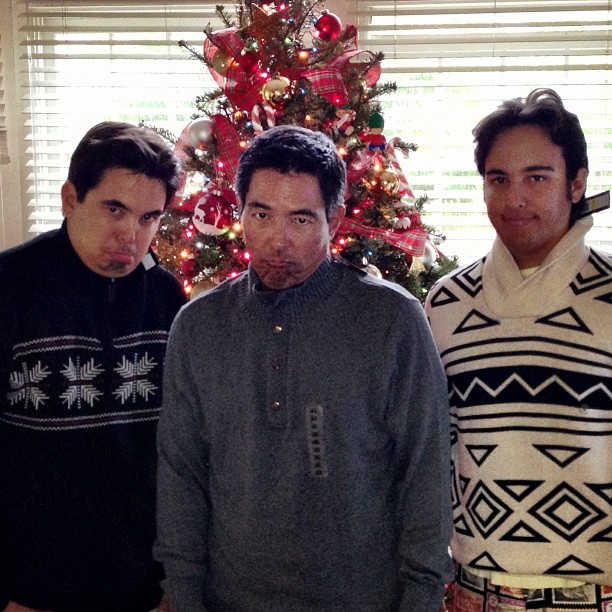 """Uhh, Thanks Mom for our Christmas sweaters..."" Merry Christmas from ManoaDNA!!! via Instagram"