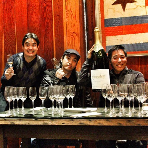The boys from ManoaDNA taste the finest sparkling wine that California has!