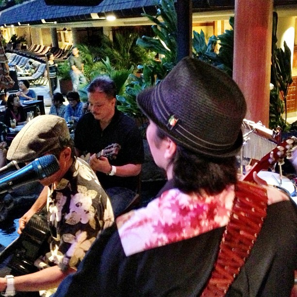 Mahalo to Bryan Tolentino for sitting in with us tonight! What a great experience!  He made our night!