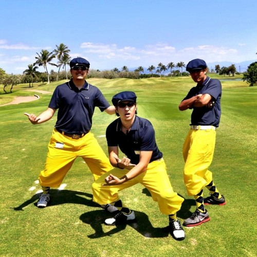 Alex, Nick, and friend Zach join forces to take on the Punahou Alumni Tournament at Hawaii Prince Golf Club.