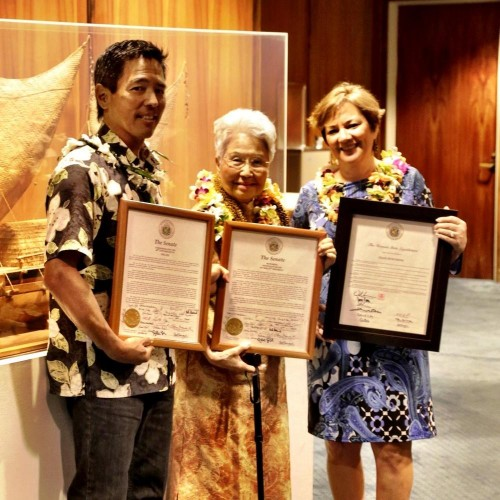 Grandma was honored on her birthday and for 60 years of IOLANI tradition.