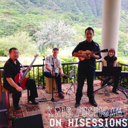 A week of shooting for HI*Sessions included ukulele player, Kris Fuchigami.