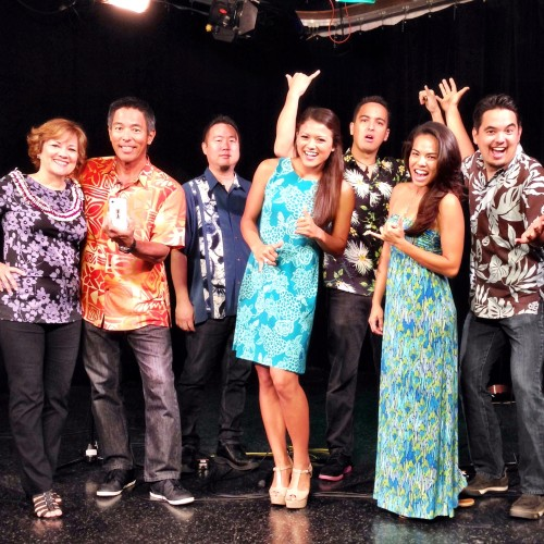 Promoting the 60th anniversary of IOLANI Sportswear, members of ManoaDNA, Mom, and the Miss Hawai'i court packed the Sunrise! on Hawaii News Now set.