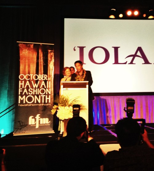 During the 2013 Governor's Fashion Awards, IOLANI Sportswear was honored for 60 years of business in Hawaii!