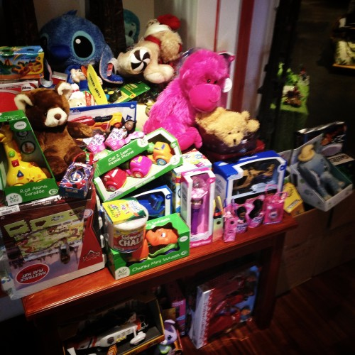 The toys have started to arrive in the store!  Donations are coming in from all over the world!